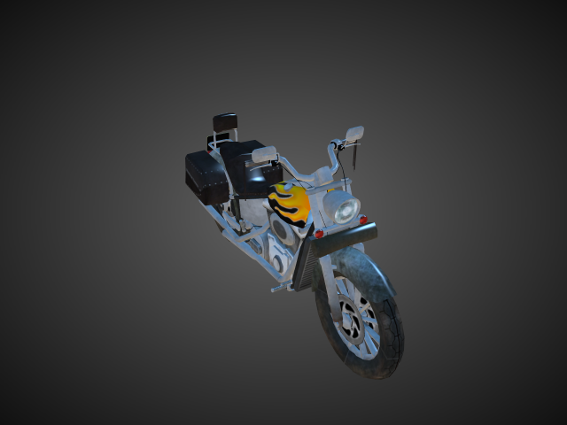'Motorcycle Cruiser Special' by bevisbear - 3D Model