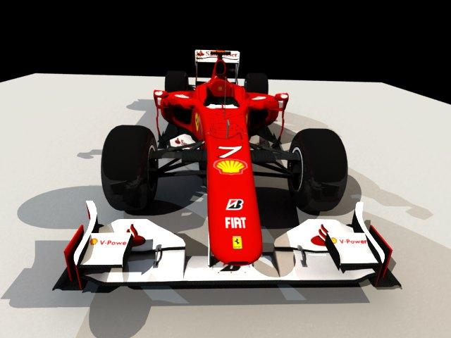 'Ferrari F1 Race Car' by DesinerAnurag - 3D Model