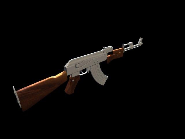 'AK-47 Kalashnikov' by robinch56 - 3D Model