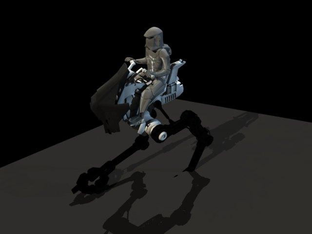 'Star Wars - Storm Trooper on Walker' by FalloutStoryteller13 - 3D Model