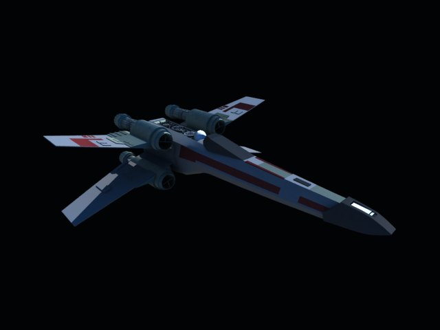 'Star Wars X-Wing' by kevinyeh - 3D Model