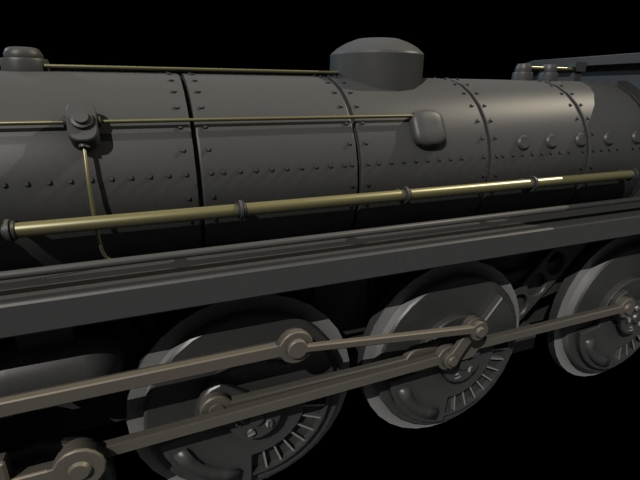 'Steam Train' by xmax010 - 3D Model