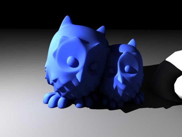 'Cuddling Owls (VRay)' by soccer34 - 3D Model