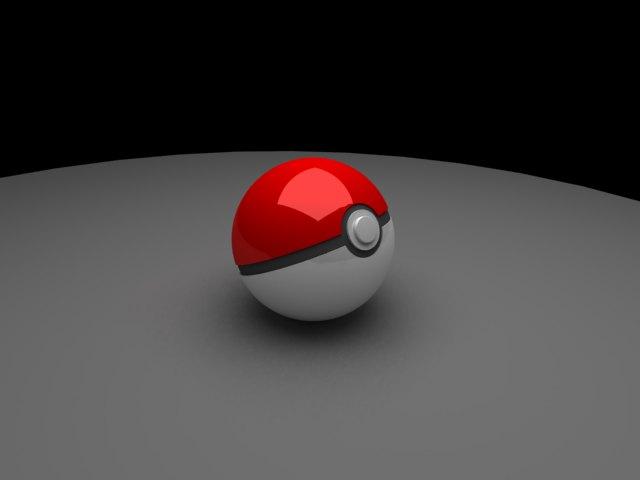 'Pokeball (VRay)' by maxmizeolivier - 3D Model