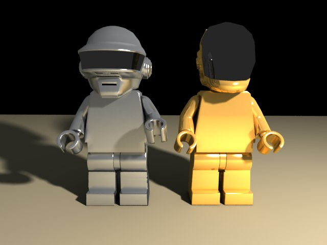 'Daft Punk Lego Minifig (VRay)' by CharlieH77 - 3D Model