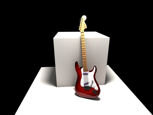 'Fender Electric Guitar' by Kateryna123 - 3D Model