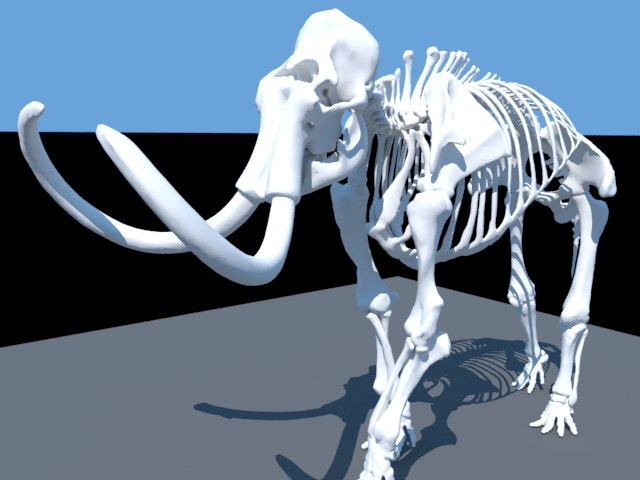 'Woolly Mammoth Skeleton' by nonamesmallkid - 3D Model