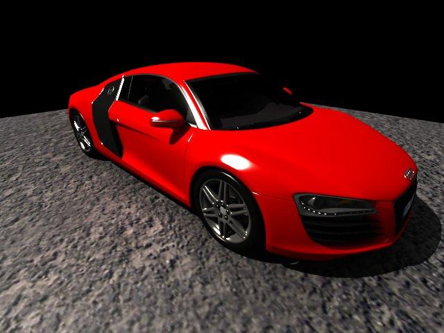 'Audi R8 (Red)' by dhanusht4 - 3D Model