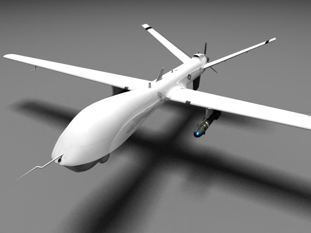 'MQ-9 Reaper UAV (VRay)' by xmax010 - 3D Model
