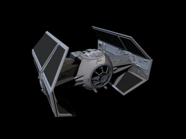 'Star Wars Vader TIE Fighter' by melisafilm - 3D Model