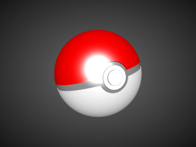 'Pokeball (VRay)' by Alstar - 3D Model