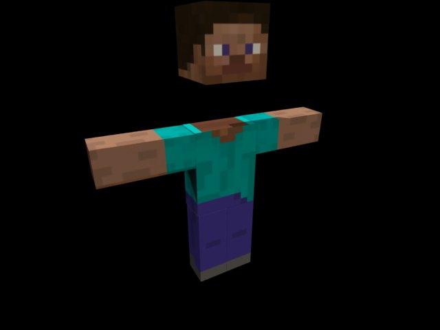 'Minecraft Steve' by saleh - 3D Model