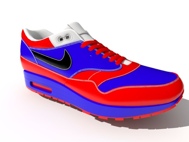 'Nike Air Max - Low Poly' by qeeeqrw - 3D Model
