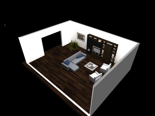 'Living Room' by Vibahardware - 3D Model