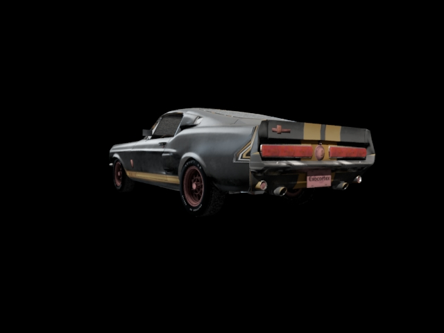 '1967 Shelby Ford Mustang' by thediez - 3D Model