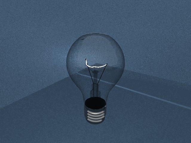 'Light Blub - Mesh Light' by aagam - 3D Model