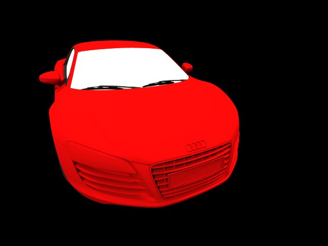 'Audi R8 (Red)' by glennflanagan - 3D Model
