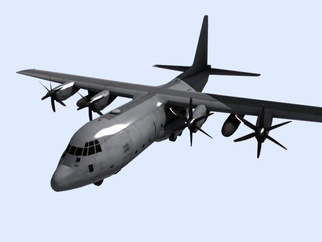'US C 130 Hercules Airplane' by xmax010 - 3D Model