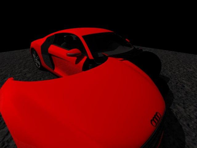 'Audi R8 (Red)' by juba - 3D Model