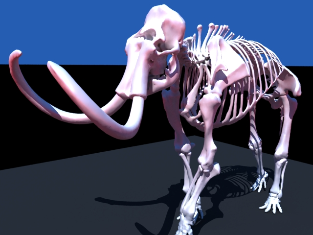 'Woolly Mammoth Skeleton' by lordminion123 - 3D Model