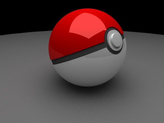 'Pokeball (VRay)' by iliasabdel - 3D Model