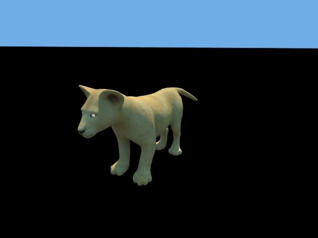 'Lion Cub' by Hitesh Sahu - 3D Model