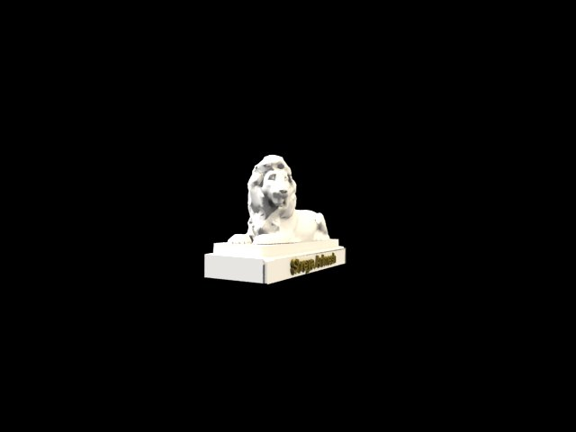 'Lion Statue SHreya' by thevisheshone - 3D Model