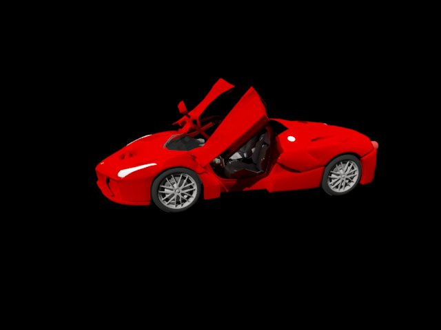 'Ferrari Laferrari' by Lgager - 3D Model
