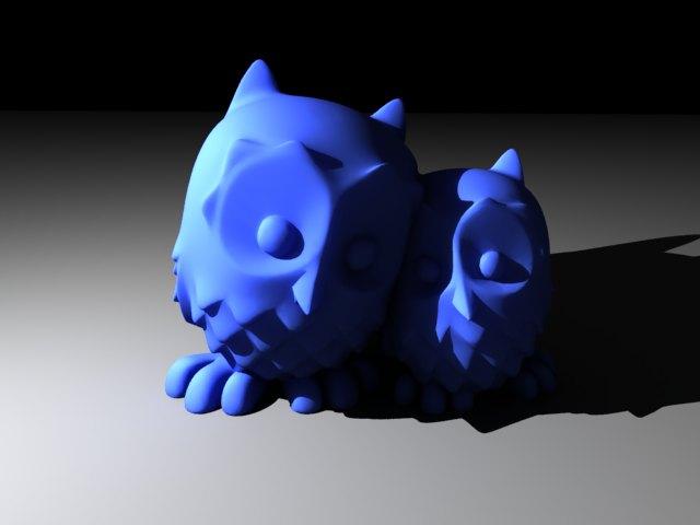 'Cuddling Owls (VRay)' by powschek - 3D Model