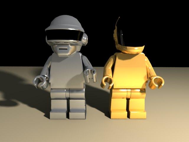 'Daft Punk Lego Minifig (VRay)' by christian1098 - 3D Model
