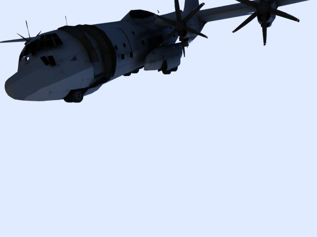 'US C 130 Hercules Airplane' by zanepopes - 3D Model