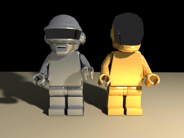 'Daft Punk Lego Minifig (VRay)' by giovanni12 - 3D Model