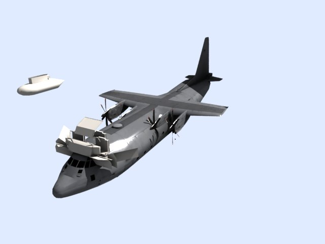 'US C 130 Hercules Airplane' by lazaromartins - 3D Model