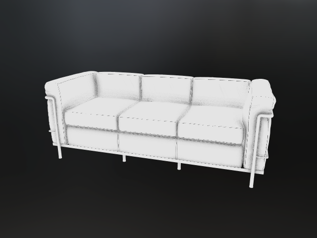 'Cassina LC2 Black - SAO' by Ben Houston - 3D Model