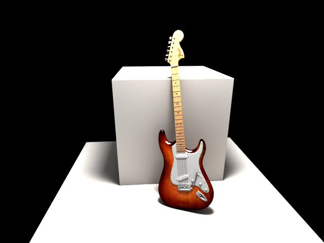 'Clone of Fender Electric Guitar' by andykay - 3D Model