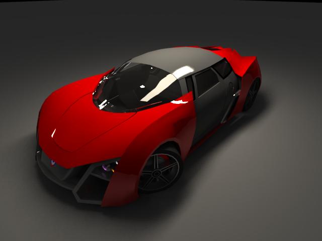 'Marussia B2 (VRay)' by kira127785 - 3D Model