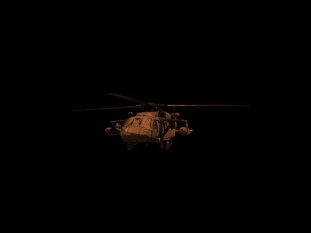 'UH-60 Blackhawk Helicopter 3d model' by hchomp - 3D Model