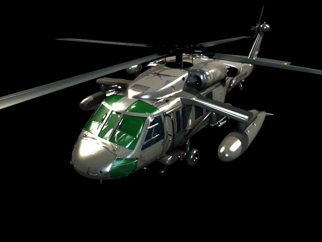 'UH-60 Blackhawk Helicopter' by xmax010 - 3D Model