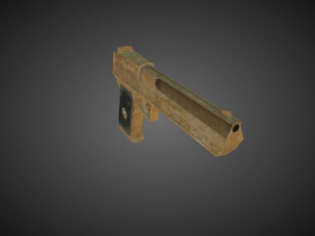 'Pistols - Deserteagle Gold' by bevisbear - 3D Model