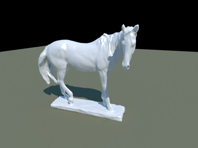 'Horse Statue' by Ben Houston - 3D Model