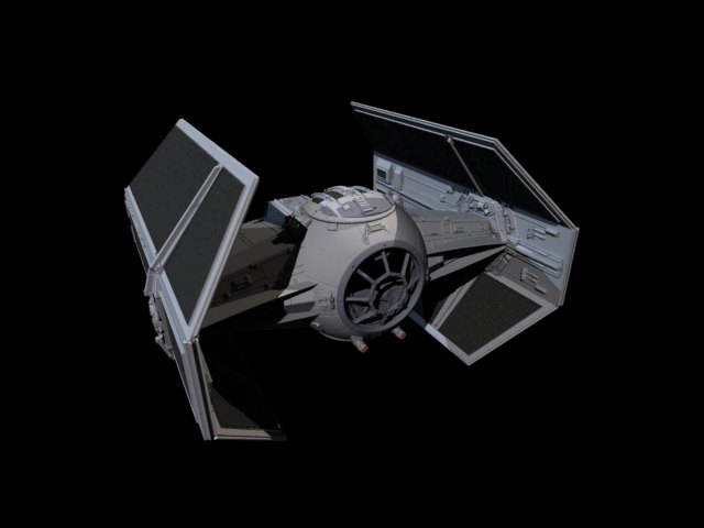 'Star Wars Vader TIE Fighter' by saleh - 3D Model