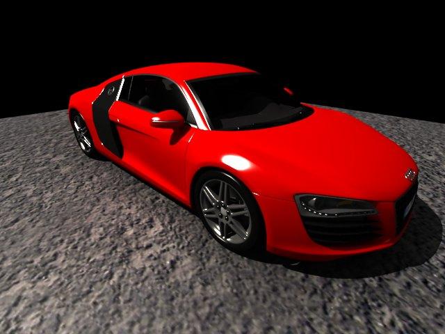 'Audi R8 (Red)' by ALXTorresC - 3D Model