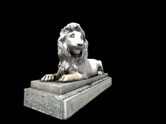 'Lion Statue' by Ehnaton - 3D Model