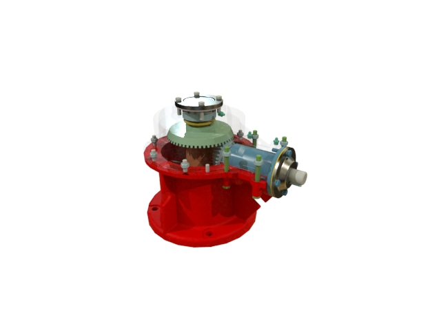 'Bevel gear main assembly (2)' by calebkit - 3D Model
