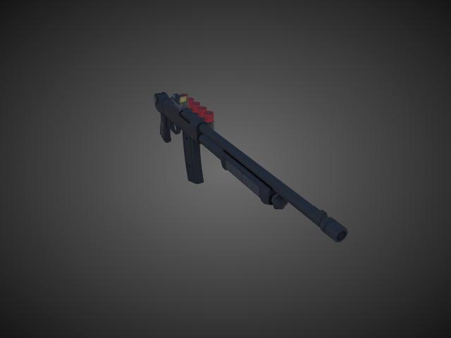 'Shotgun - ValtroPM5 02' by bevisbear - 3D Model