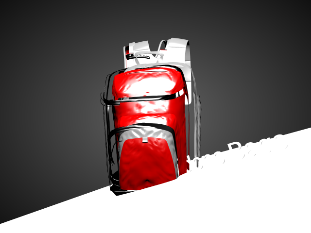 'School Backpack (VRay)-test' by kamaru - 3D Model
