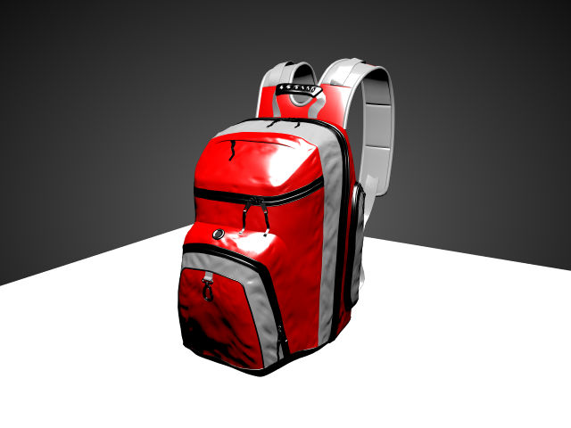 'School Backpack (VRay)' by spuddy - 3D Model