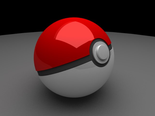 'Pokeball (VRay)' by tijithpeter - 3D Model