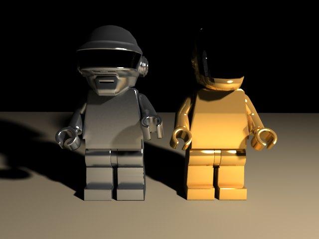 'Daft Punk Lego Minifig (VRay)' by juyg11 - 3D Model