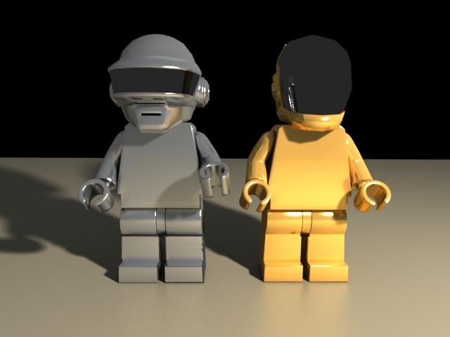 'Daft Punk Lego Minifig (VRay)' by DennyTV - 3D Model